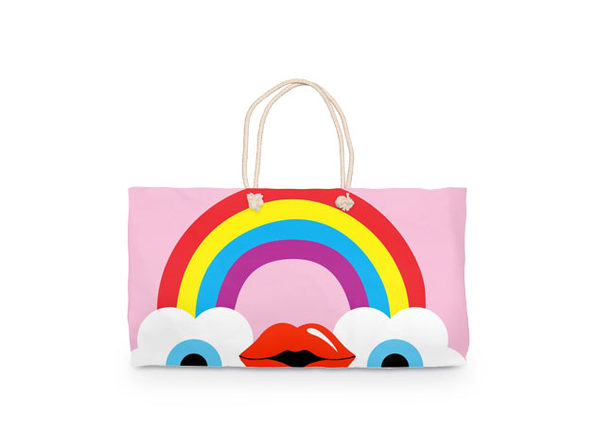 Cute Brute Rainbow Weekender Tote Bag