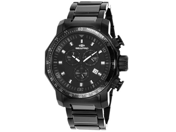 Seapro Men's Coral Black Dial Watch - SP6120 - Product Image