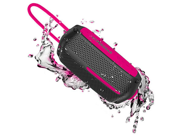 HyperGear Wave Water Resistant Wireless Speaker (Black/Pink)