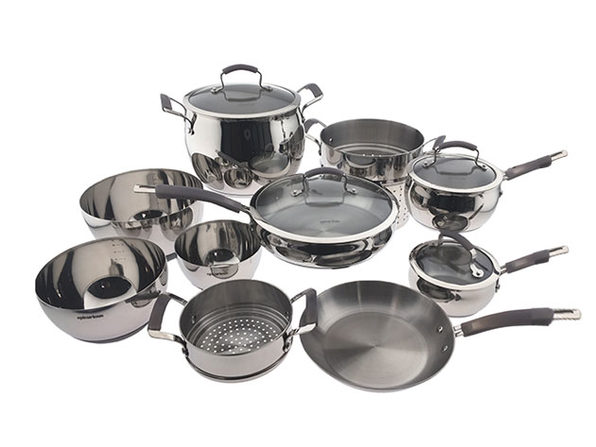 Epicurious® 14-Piece Stainless Steel Cookware Set