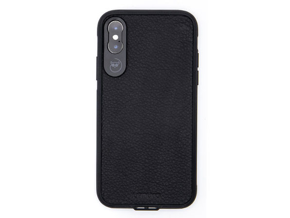 Lemuro iPhone Photo Case | iPhone XS (Black Leather)