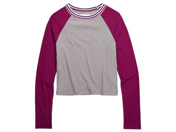 Epic Threads Big Girls Colorblocked Top Grey Size Small