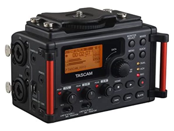 Tascam DR-60DMKII 4-Channel Portable Audio Recorder for DSLR Camera Rig - Black (Like New, Open Retail Box)