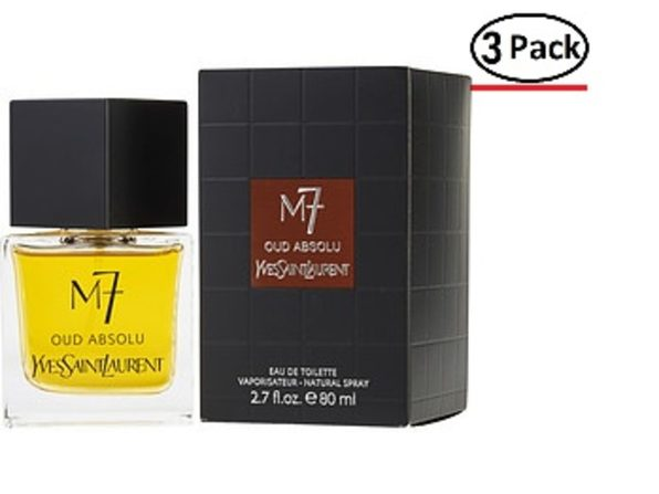 M7 OUD ABSOLU by Yves Saint Laurent EDT SPRAY 2.7 OZ (LA COLLECTION EDITION) for MEN ---(Package Of 3) - Product Image