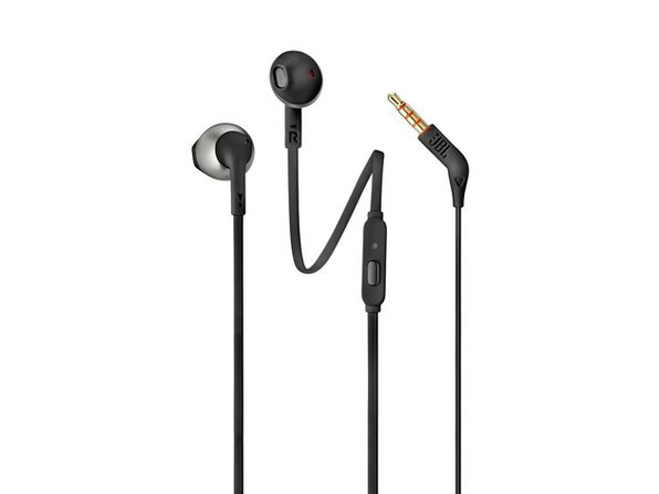 JBL Lifestyle TUNE 205 In Ear Wired Earphones with Remote - Black