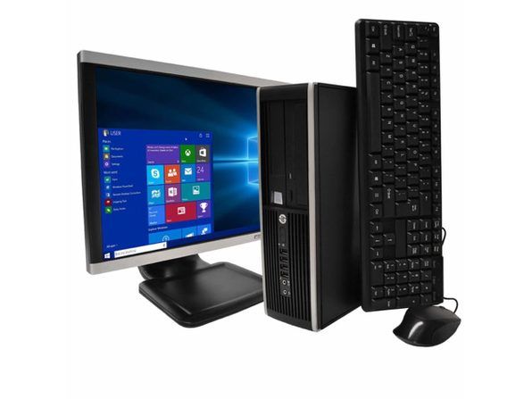 "HP Compaq 6300 Desktop PC, 3.2 GHz Intel i5 Quad Core Gen 3, 8GB DDR3 RAM, 500GB SATA HD, Windows 10 Home 64 bit, 22"" Widescreen Screen (Renewed)"