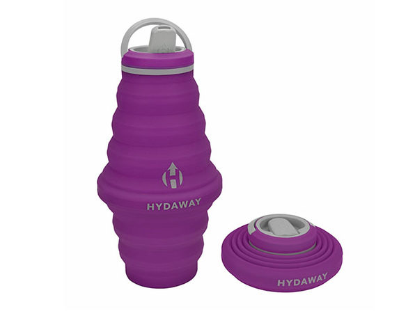 Hydaway 25oz Collapsible Water Bottle with Spout Lid (Plum Purple)