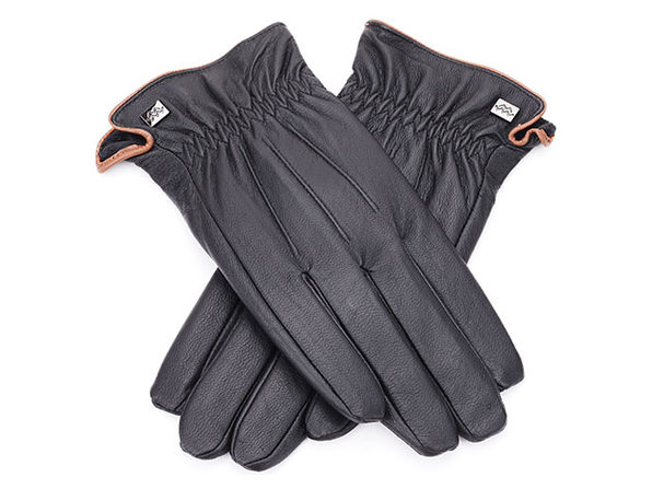 Cold-weather Leather Gloves (Black/Large)