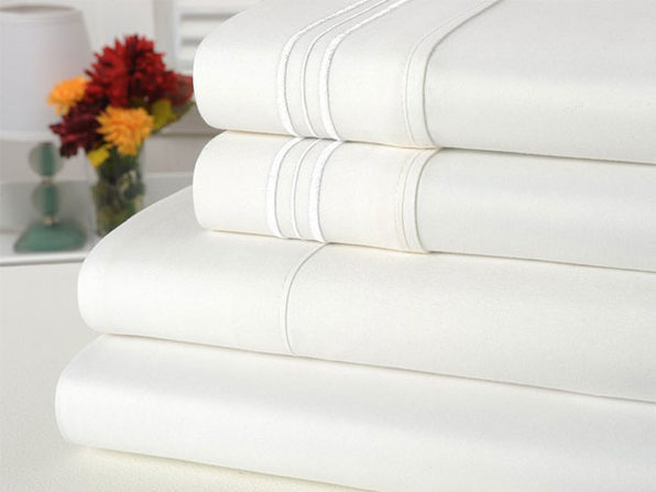 Bamboo Comfort 4 Piece Solid Sheet Set -Queen- White - Product Image