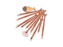 11- Piece Mermaid Brush Set - Orange - Product Image