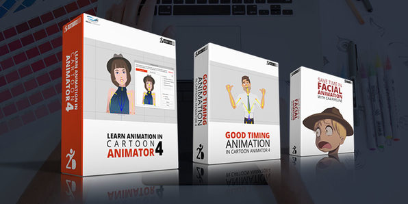 Cartoon Animator 4 Training: 3-in-1 eLearning Bundle - Product Image
