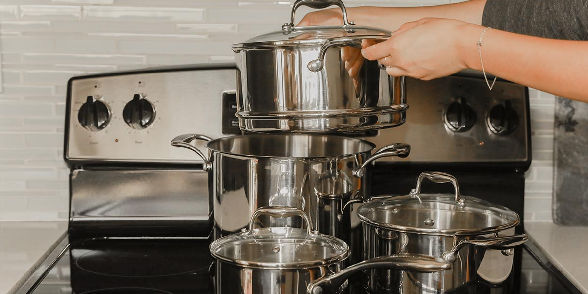 Concentrix 10-Piece Stainless Steel Housewarming Cookware Set, on sale for $219.99 (46% off)