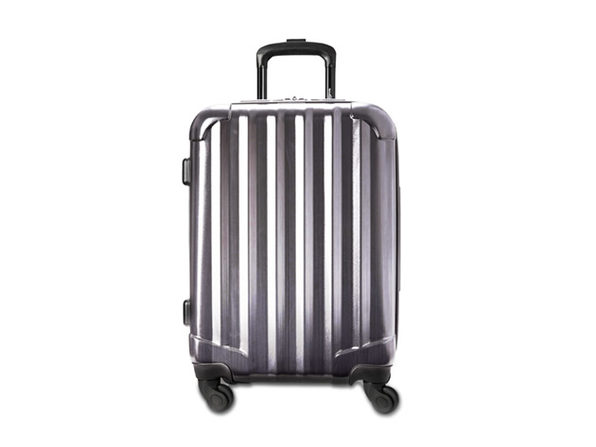 Genius Pack Aerial Hardside Carry On Spinner (Brushed Chrome)