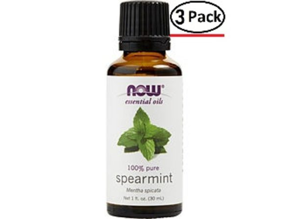 ESSENTIAL OILS NOW by NOW Essential Oils SPEARMINT OIL 1 OZ for UNISEX ---(Package Of 3)