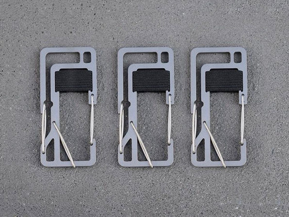 Key Titan KT7 Carabiner 3-Pack (Silver)