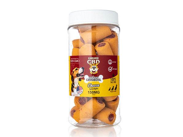 Kangaroo 150mg CBD Pet Treats Cheese Wraps - Product Image