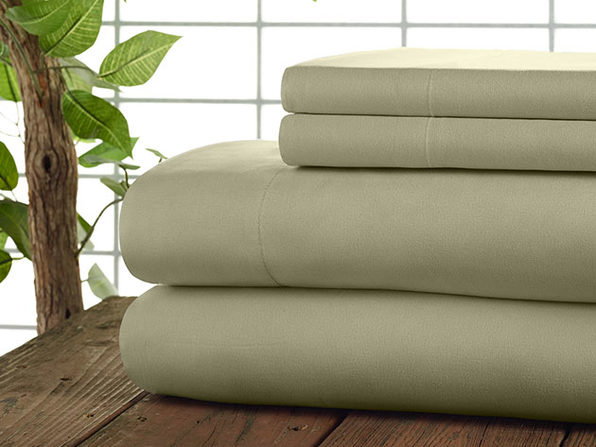 Kathy Ireland 4-Pc Coolmax Sheet Set - Queen - Sand - Product Image