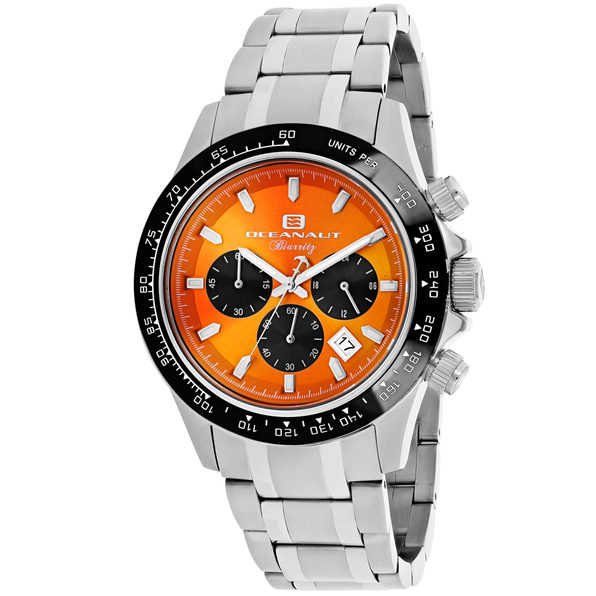 Oceanaut Men's Biarritz Orange Dial Watch - OC6120