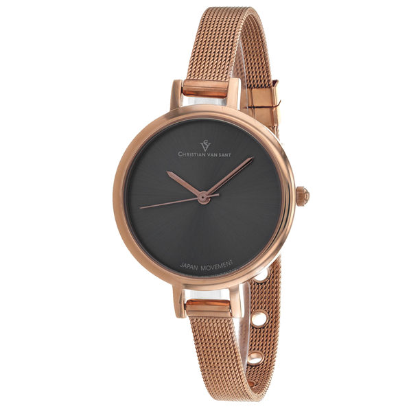 Christian Van Sant Women's Grace Grey Dial Watch - CV0286
