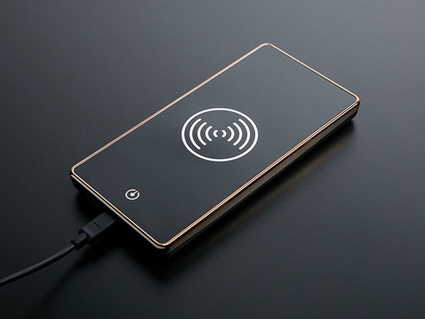 Wireless Power Bank + Wireless Charger Adapter (Black