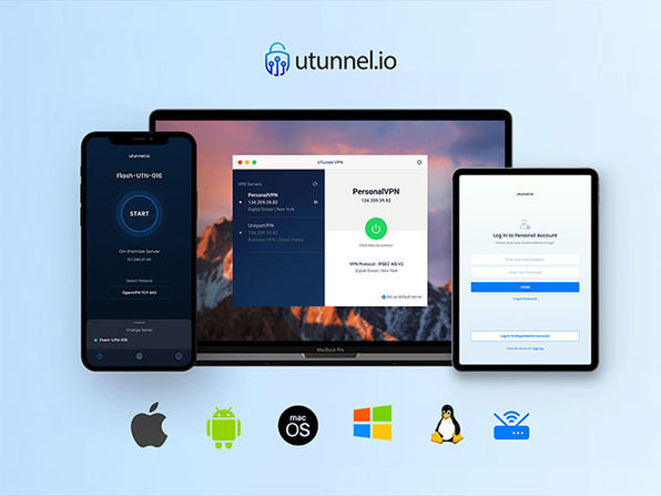 UTunnel VPN Basic License (5 Devices) + Bring Your Own Server: 1-Year Subscription