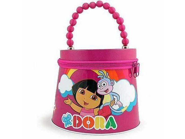 Dora the Explorer Beaded Tin Purse  - Hot  Pink