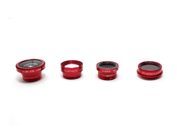 5-in-1 Clip & Snap Smartphone Camera Lenses (Red)