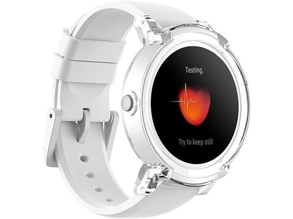 Ticwatch E Super Lightweight Android Smart Watch, 1.4 inch OLED Display - Ice (Like New, Open Retail Box)
