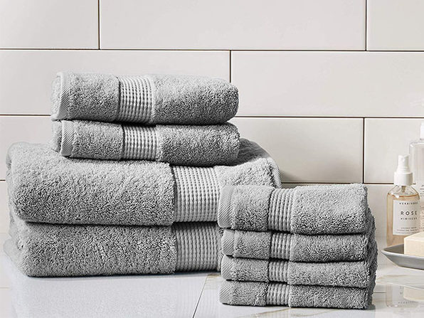 Turkish Cotton 700 GSM Towels: Set of 8 (Grey)