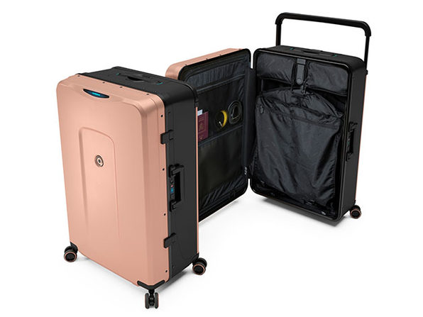 Plevo: Up - World's First Vertical Luggage (Pink)