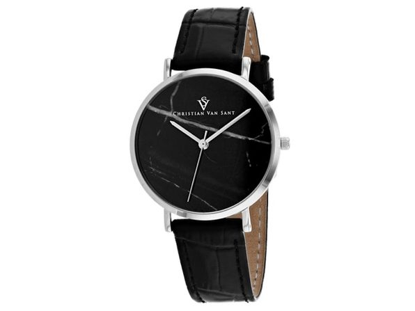 Christian Van Sant Women's Lotus Black Dial Watch - CV0421BK