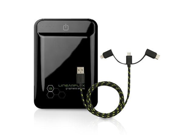 Graphene 11K Pocket HyperCharger + Triton Cable (Micro USB & USB Type C)