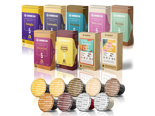 Gourmesso Flavored K-Cup 15-Pack Bundle: Limited Edition Flavors