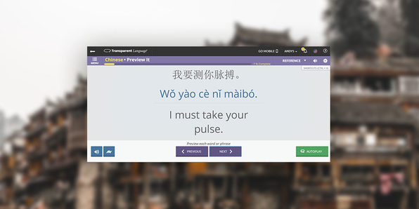 Transparent Language Learning (Mandarin) - Product Image