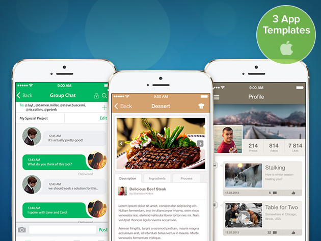 professionally designed ios 8 app templates coded in swift stacksocial