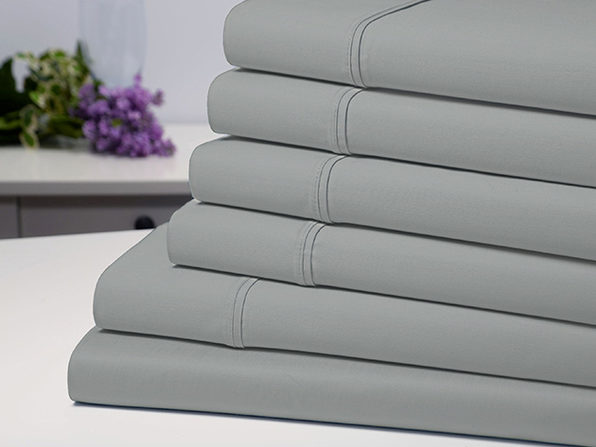 Bamboo Comfort 6 Piece Luxury Sheet Set - Silver (Queen) - Product Image
