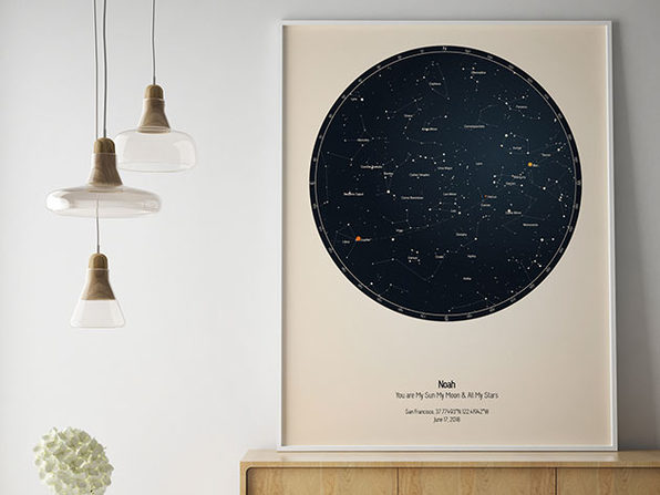 Strellas Personalized Star Map 24x36 Citizen Goods