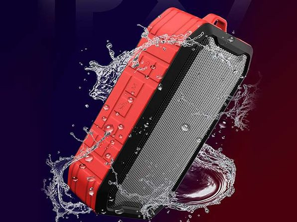 X7 Waterproof Portable Bluetooth Speaker (Red) - Product Image