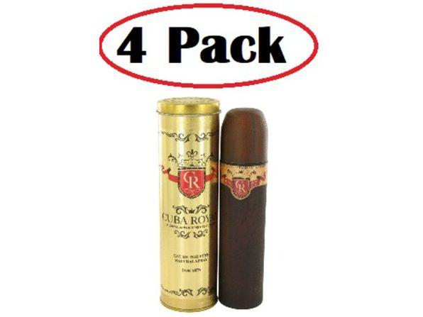 4 Pack of Cuba Royal by Fragluxe Eau De Toilette Spray 3.4 oz - Product Image