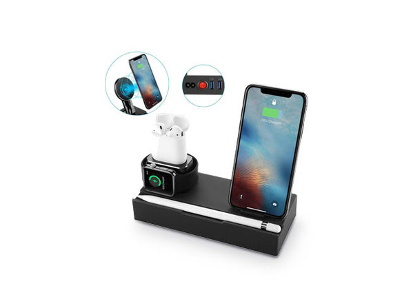 iPM Wireless Charging Docks with Removable Charging Pad (Black)