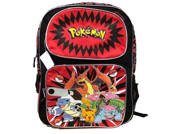 Backpack - Pokemon - Large 16 Inch - Red - Full Group