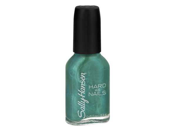 Sally Hansen Hard as Nails Brush Contours Glides Color, Made in Jade, 0.45 Fluid Ounce