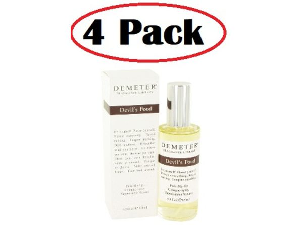 4 Pack of Demeter Devil's Food by Demeter Cologne Spray 4 oz - Product Image