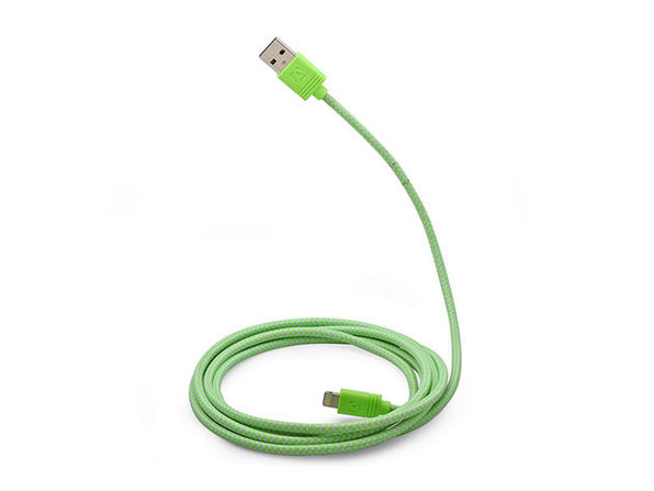 10-Ft Cloth MFi-Certified Lightning Cable (Green)