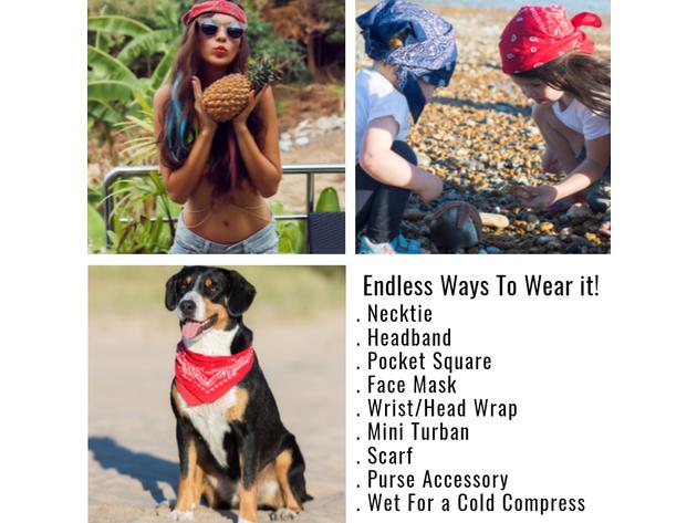 Cotton 22 in Mechaly Headbands for Men in Neon Colors 6 Pack or Dozen
