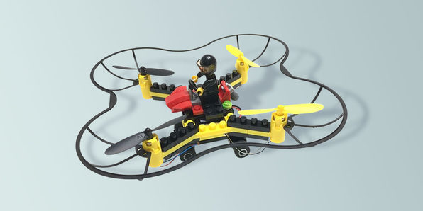 Force Flyers DIY Building Block Fly n Drive Drone - Product Image