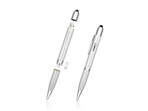 3 in1 Power Pen -Pen / Stylus / Powerbank // Silver