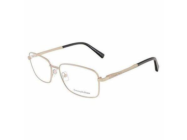 Zegna EZ5021-029 Optics Mens Eyeglasses Gold Black Frames - Gold Black