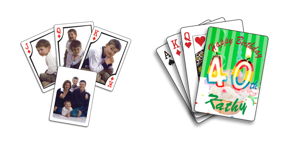 Create custom playing cards with family photos, funny memes, or anything that you can think of
