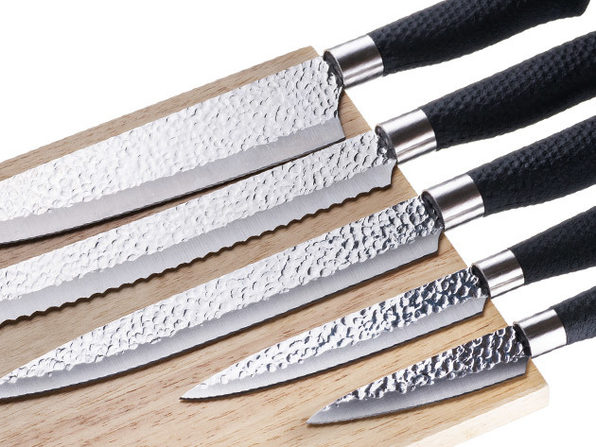 Nuvita 6-Piece Stainless Steel Knife Set with Magnetic Wooden Block